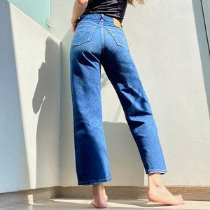 Levi's High Waisted Ribcage Straight Ankle Jeans